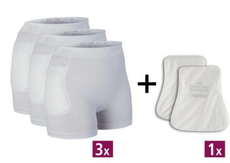 Sett med 3 boxere + 1 par beskyttere